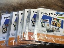 4x6 Photo Page Refills ~ 6 Packages Of 10 Sheets Each ~ Holds Total 360 Photos