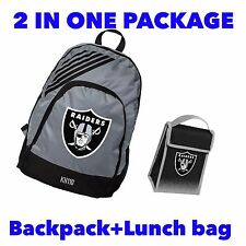 NFL Oakland Raiders Backpack+Lunch bag 2 in1 Package