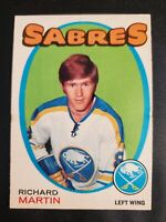 1971-72 O-Pee-Chee #161 Richard Martin RC Rookie Buffalo Sabres