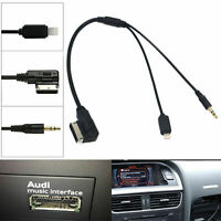 Auto AMI MDI MMI 3.5mm MP3 Auxiliary Adapterkabel für iPhone Audi A3 A8 Q5 VW