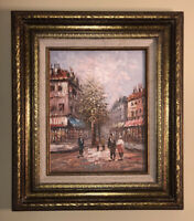 Impressionist Oil Painting Paris City Street Scene Art Caroline Burnett 11x14""