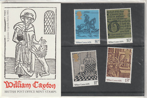 29 SEPTEMBER 1976 WILLIAM CAXTON PRINTING PRESENTATION PACK No 83 MINT CONDITION