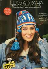KNITTING PATTERN Ladies Llama Fair Isle Perubian Hat Shaun the Sheep Rowan
