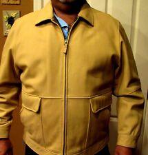 Daniel Cremieux Signature Collection Leather Men's Jacket Tan Camel Sz XL NWOT