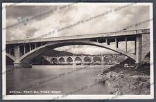 GORIZIA CITTÀ 96 PONTE Fiume ISONZO Cartolina FOTOGRAFICA viaggiata 1949