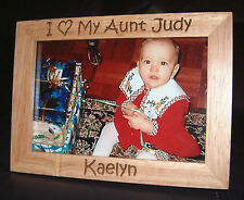"""Personalized Engraved """"I Love My Aunt"""" 4x6 Frame"""