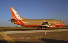 "Southwest Airlines Boeing 737-5H4 N519SW Midland October 1993 8""x12"" Color Print"