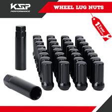 32PC 9/16 18 Thread BLACK TRUCK 7 SPLINE LOCKING LUG NUTS 2 KEY RAM Ford 250 350