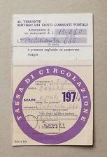66683 75 Bollo auto Tassa di circolazione 1974