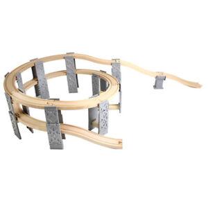 trenes de madera set de ferrocarril accesorios compatibles vía espiral