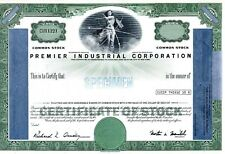 Premier Industrial Corporation. Cleveland, Ohio stock specimen, script