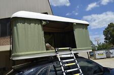 Roof Top Tent Hard Fiberglass Shell Camping Camper Trailer With Ladder LED light