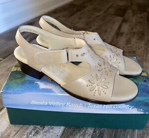 New NIB SAS Sunburst Cream Sandals Shoes 9 M 2270-215 Made USA Free Shipping