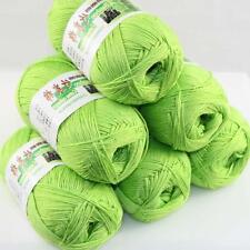 Sale Lot 6 Balls x50g Soft Bamboo Cotton Baby Wrap Hand Knitting Crochet Yarn 09