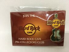 New in Package Hard Rock Cafe Pin Collectors Club Green Guitar Icon Guitar