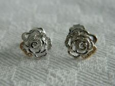 Clogau Silver & Rose Welsh Gold Royal Roses Topaz Stud Earrings RRP £119.00