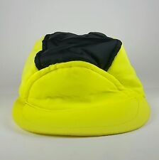 Vtg Child Childrens Obermeyer Ski Winter Cap Hat Neon Bright Yellow Sz Small S