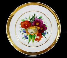 Porzellan Teller Blumen Schlesien um 1850 - 1880 AL420