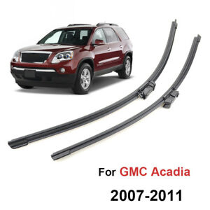 """2Pcs/Set Front Windshield Wiper Blades For GMC Acadia MK1 07-11 24"""" 21""""  08 09"""