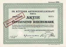 Fr. Küttner AG Pirna 1000 / 2000 RM 1934 / 1943