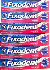FIXODENT COMPLETE *ORIGINAL* 8 TUBES X 2.4-OZ EA DENTURE ADHESIVE CREAM