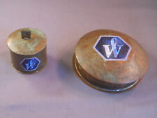 Waterman 2 piece desk accessories--stamp holder and clip container