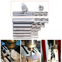 "Extra Long HSS End Mill Cutter Milling Cut Bit 1/8"" 3/16"" 1/4"" 5/16"" 3/8"" 1/2"""
