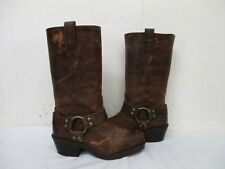 Mossimo Supply Brown Leather Harness Biker Boots Womens Size 5.5