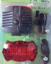 KIT Fanale Anteriore + Posteriore Bici MTB + City Bike 5 LED
