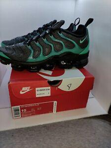 🔥 NWB Nike Air VaporMax Plus black clear emerald cool gray 924453 013 Size 10