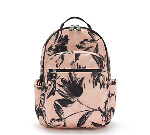 Kipling SEOUL Large Backpack with Laptop Protection CORAL FLOWER SS21  RRP £93