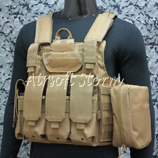 Tactical Molle Combat Strike Plate Carrier Vest Coyote Brown