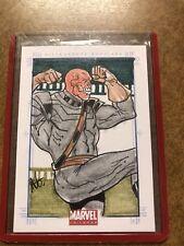 2011 Marvel Universe Red Skull Sketch. (Avengers Captain America Winter Soldier)