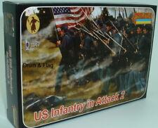 STRELETS Set 153-US FANTERIA IN ATTACCO 2-Unione-guerra civile americana. 1/72