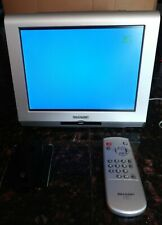 """Sharp LC-10A3U-S 10.4"""" LCD Color TV Working Great, w Remote, Wall Plate Working"""
