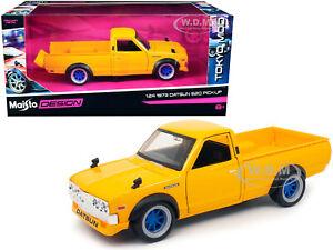 "1973 DATSUN 620 PICKUP TRUCK YELLOW ""TOKYO MOD"" 1/24 DIECAST MODEL MAISTO 32528"