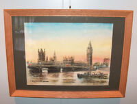 "8209: Gordon Sommers Print ""Westminster Bridge"" Hand Signed LE Lithograph Framed"