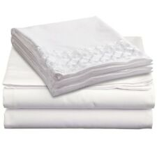 1800 Count 4 Piece Deep Pocket Bed Bed Sheet Set with Lace Pillowcases!