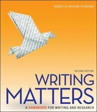 Writing Matters: a Handbook for Writing and Research (Comprehensive Edition with