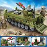 376pcs Military Tank Vehicle Model Building Blocks with Soldier Figures Bricks