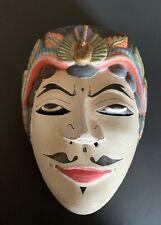 Vintage Javanese Carved Wood and Plaster Topeng Dance Mask – 23095