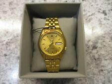 New Men's SEIKO SNK366K1 gold watch
