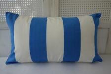 Hamptons Cotton Blue & White Stripe Piped Rectangle Cushion Cover