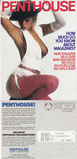 PENTHOUSE MAGAZINE REPRODUCTION OF FRONT COVER ADVERTISING COLOUR POSTCARD (d)