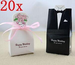 40 Wedding Dress Tuxedo Favor Gift Boxes