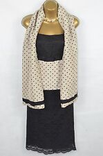 HOBBS 3 Piece outfit- Skirt/vest/shawl 100% silk & lace UK 10-12