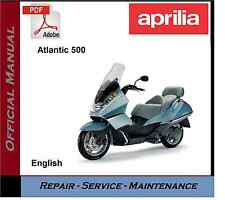 Manualshandbooks cd motorcycle repair manuals literature ebay or best offer aprilia atlantic 500 workshop repair service manual fandeluxe