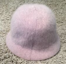 Womens Cream Rabbit Fur Blend Bucket Hat