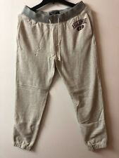 New Abercrombie Fitch Mens Gray VARSITY LOGO SWEATPANTS--Size Small