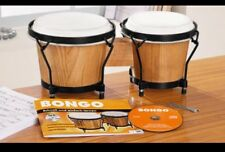 Sale💯new bongo drum Set,natural Leather.+CD